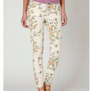 Anthro floral jeans